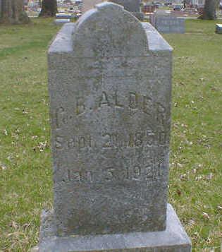 ALDER, G. B. - Cerro Gordo County, Iowa   G. B. ALDER