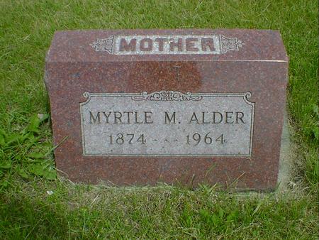 ALDER, MYRTLE M. - Cerro Gordo County, Iowa | MYRTLE M. ALDER