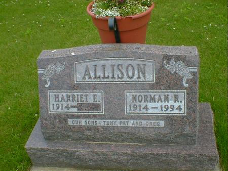 ALLISON, HARRIET E. - Cerro Gordo County, Iowa | HARRIET E. ALLISON
