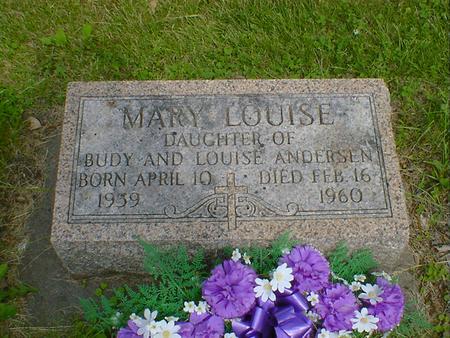 ANDERSEN, MARY LOUISE - Cerro Gordo County, Iowa | MARY LOUISE ANDERSEN