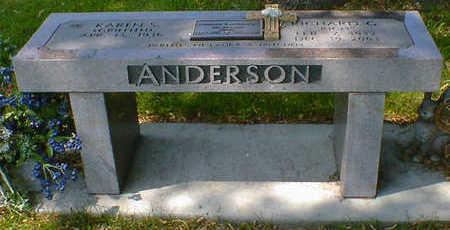 ANDERSON, RICHARD G. - Cerro Gordo County, Iowa | RICHARD G. ANDERSON