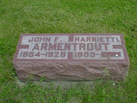 ARMENTROUT, HARRIET I. - Cerro Gordo County, Iowa | HARRIET I. ARMENTROUT