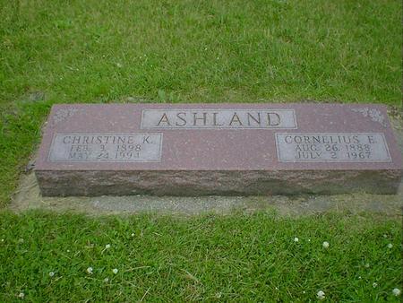 ASHLAND, CORNELIUS E. - Cerro Gordo County, Iowa   CORNELIUS E. ASHLAND
