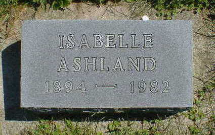 ASHLAND, ISABELLE - Cerro Gordo County, Iowa | ISABELLE ASHLAND