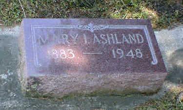 ASHLAND, MARY I. - Cerro Gordo County, Iowa | MARY I. ASHLAND