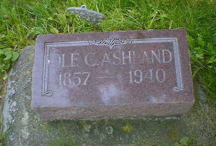 ASHLAND, OLE C. - Cerro Gordo County, Iowa | OLE C. ASHLAND