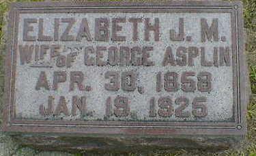 ASPLIN, ELIZABETH - Cerro Gordo County, Iowa | ELIZABETH ASPLIN