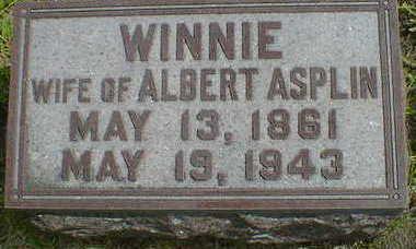 ASPLIN, WINNIE - Cerro Gordo County, Iowa   WINNIE ASPLIN