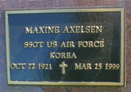 AXELSEN, MAXINE - Cerro Gordo County, Iowa | MAXINE AXELSEN
