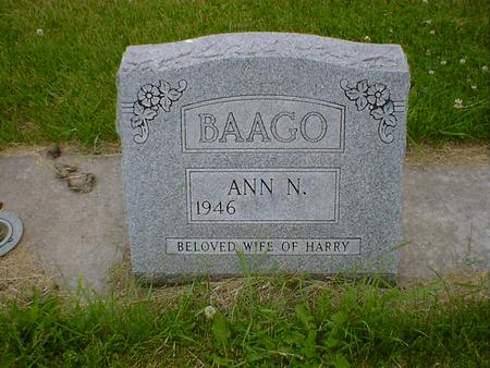 BAAGO, ANN N. - Cerro Gordo County, Iowa | ANN N. BAAGO