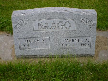BAAGO, HARRY P. - Cerro Gordo County, Iowa | HARRY P. BAAGO