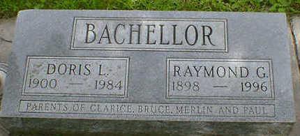 BACHELLOR, DORIS L. - Cerro Gordo County, Iowa   DORIS L. BACHELLOR
