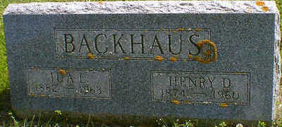 BACKHAUS, HENRY D. - Cerro Gordo County, Iowa | HENRY D. BACKHAUS