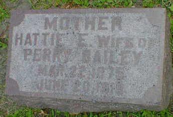 BAILEY, HATTIE E. - Cerro Gordo County, Iowa | HATTIE E. BAILEY