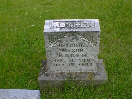 BAKER, GERTRUDE - Cerro Gordo County, Iowa | GERTRUDE BAKER