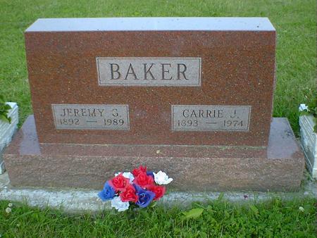BAKER, CARRIE J. - Cerro Gordo County, Iowa   CARRIE J. BAKER