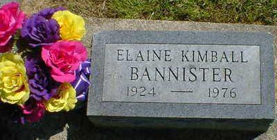 KIMBALL BANNISTER, ELAINE - Cerro Gordo County, Iowa | ELAINE KIMBALL BANNISTER