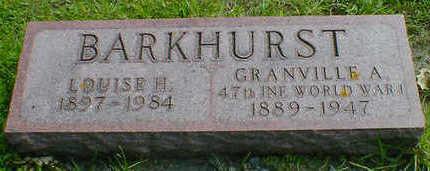 BARKHURST, GRANVILLE A. - Cerro Gordo County, Iowa   GRANVILLE A. BARKHURST