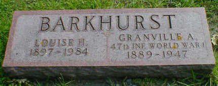 BARKHURST, LOUISE H. - Cerro Gordo County, Iowa | LOUISE H. BARKHURST