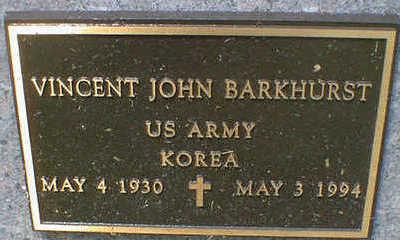 BARKHURST, VINCENT J. - Cerro Gordo County, Iowa | VINCENT J. BARKHURST