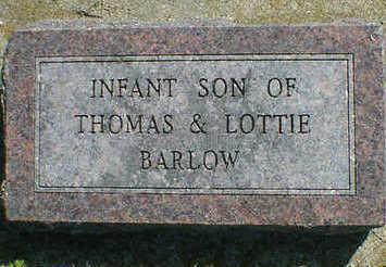 BARLOW, INFANT - Cerro Gordo County, Iowa   INFANT BARLOW