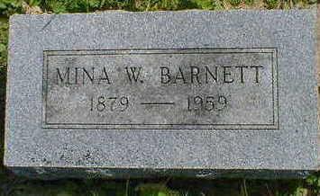 BARNETT, MINA W. - Cerro Gordo County, Iowa | MINA W. BARNETT
