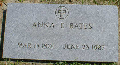 BATES, ANNA E. - Cerro Gordo County, Iowa | ANNA E. BATES