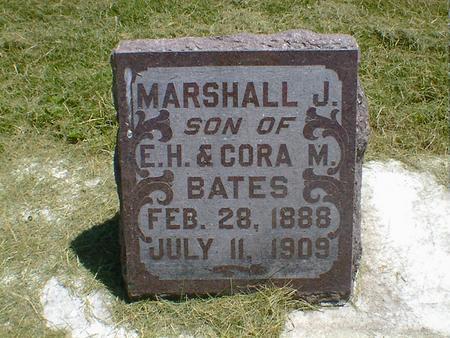 BATES, MARSHALL J. - Cerro Gordo County, Iowa   MARSHALL J. BATES
