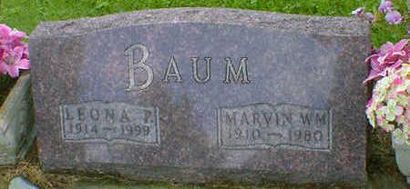 BAUM, MARVIN WM. - Cerro Gordo County, Iowa   MARVIN WM. BAUM