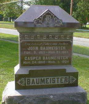 BAUMEISTER, CASPER - Cerro Gordo County, Iowa   CASPER BAUMEISTER