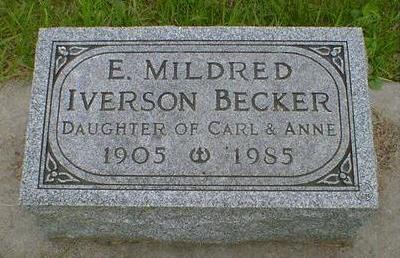 BECKER, E. MILDRED - Cerro Gordo County, Iowa | E. MILDRED BECKER