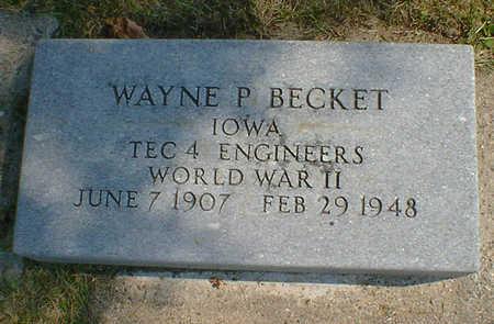 BECKET, WAYNE P. - Cerro Gordo County, Iowa | WAYNE P. BECKET