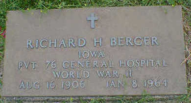 BERGER, RICHARD H. - Cerro Gordo County, Iowa | RICHARD H. BERGER