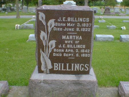 BILLINGS, MARTHA - Cerro Gordo County, Iowa | MARTHA BILLINGS