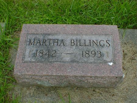 BILLINGS, MARTHA - Cerro Gordo County, Iowa   MARTHA BILLINGS