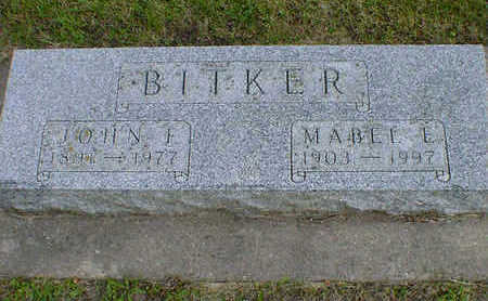 BITKER, MABEL E. (JOHNSON) - Cerro Gordo County, Iowa | MABEL E. (JOHNSON) BITKER