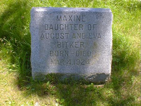 BITKER, MAXINE - Cerro Gordo County, Iowa   MAXINE BITKER
