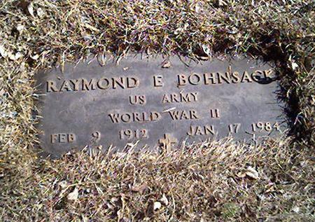BOHNSACK, RAYMOND E. - Cerro Gordo County, Iowa | RAYMOND E. BOHNSACK