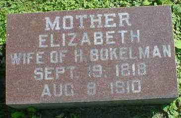 BOKELMAN, ELIZABETH - Cerro Gordo County, Iowa   ELIZABETH BOKELMAN
