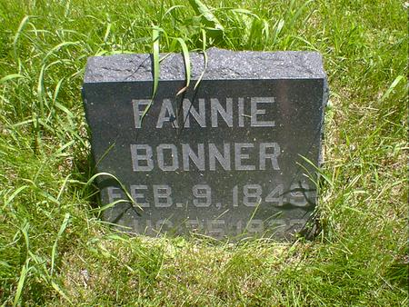 BONNER, FANNIE - Cerro Gordo County, Iowa | FANNIE BONNER