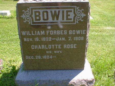 BOWIE, CHARLOTTE ROSE - Cerro Gordo County, Iowa   CHARLOTTE ROSE BOWIE