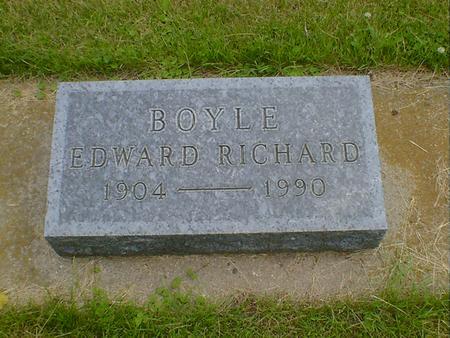 BOYLE, EDWARD RICHARD - Cerro Gordo County, Iowa   EDWARD RICHARD BOYLE