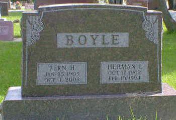 BOYLE, HERMAN L. - Cerro Gordo County, Iowa | HERMAN L. BOYLE