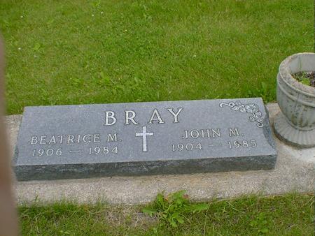 BRAY, JOHN M. - Cerro Gordo County, Iowa | JOHN M. BRAY