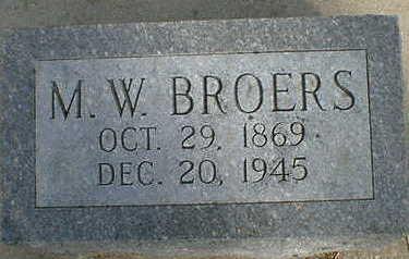 BROERS, M. W. [MENKE WALRICK] - Cerro Gordo County, Iowa | M. W. [MENKE WALRICK] BROERS