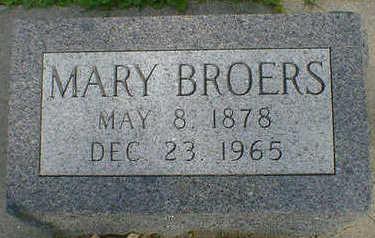 BROERS, MARY - Cerro Gordo County, Iowa | MARY BROERS