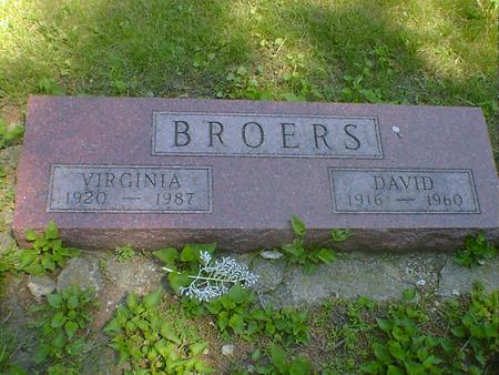BROERS, VIRGINIA (MEYERS) - Cerro Gordo County, Iowa | VIRGINIA (MEYERS) BROERS