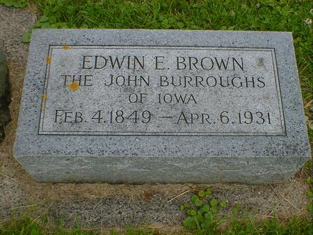BROWN, EDWIN E. - Cerro Gordo County, Iowa | EDWIN E. BROWN