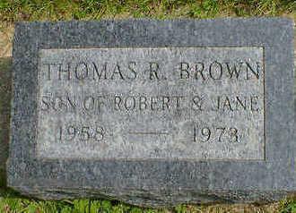 BROWN, THOMAS R. - Cerro Gordo County, Iowa   THOMAS R. BROWN