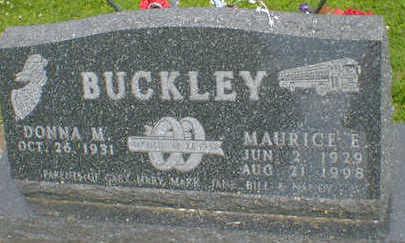 BUCKLEY, MAURICE E. - Cerro Gordo County, Iowa | MAURICE E. BUCKLEY
